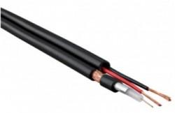 Кооксиальный комбинированный кабель с однопроволочным внутренним проводником